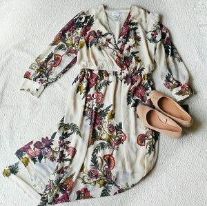 Enfocus Studio Floral Long Sleeve Maxi Dress